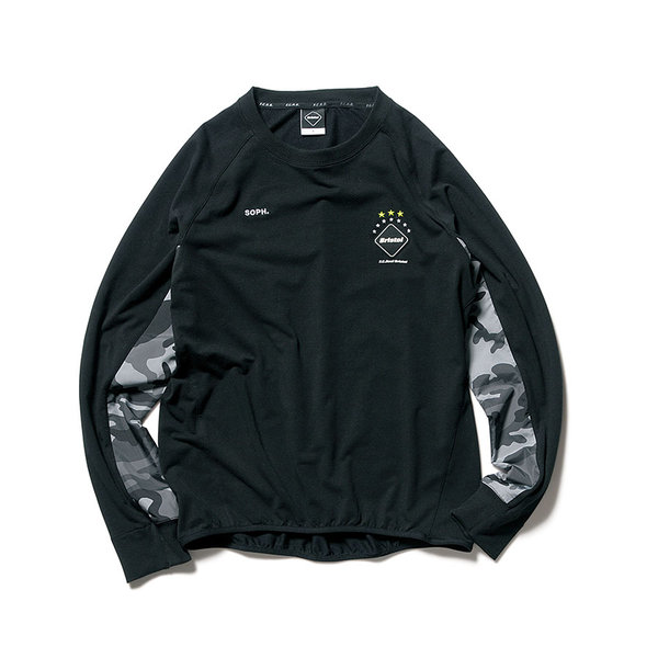 FCRB-170010-SIDE-PANEL-SWEAT-CREW-NECK-TOP_BLACK_FRONT.jpg